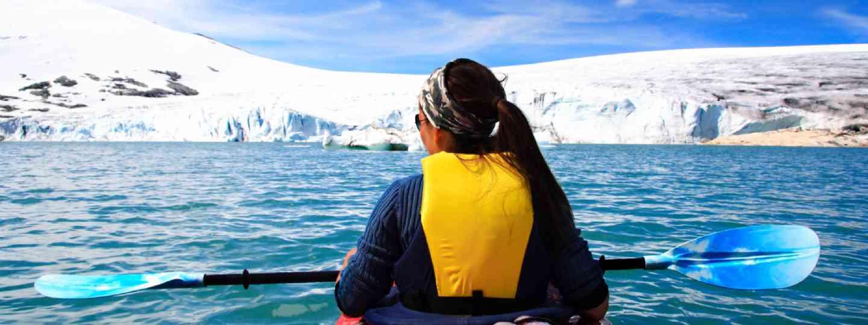 Kayaking in Jostedalsbreen, Norway (Shutterstock)