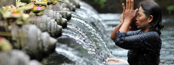 Ritual Bathing at Puru Tirtha Empul, Bali (Dreamtime. See main credit below)