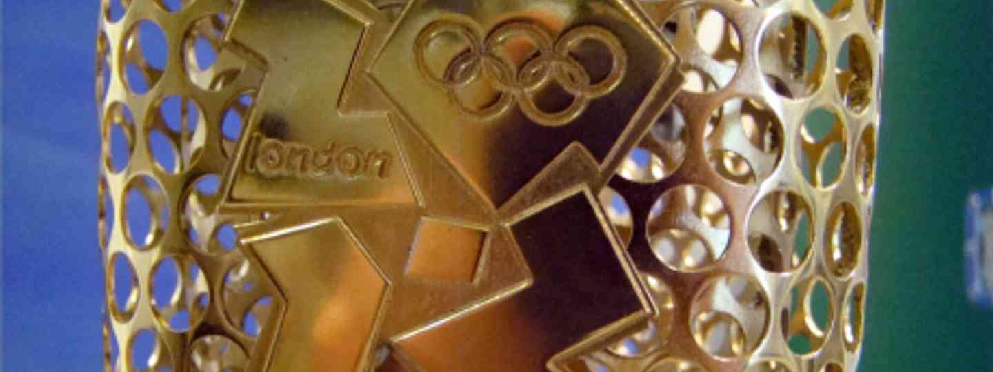 Close Up of the 2012 Logo on the Olympic Torch (Jon Candy)
