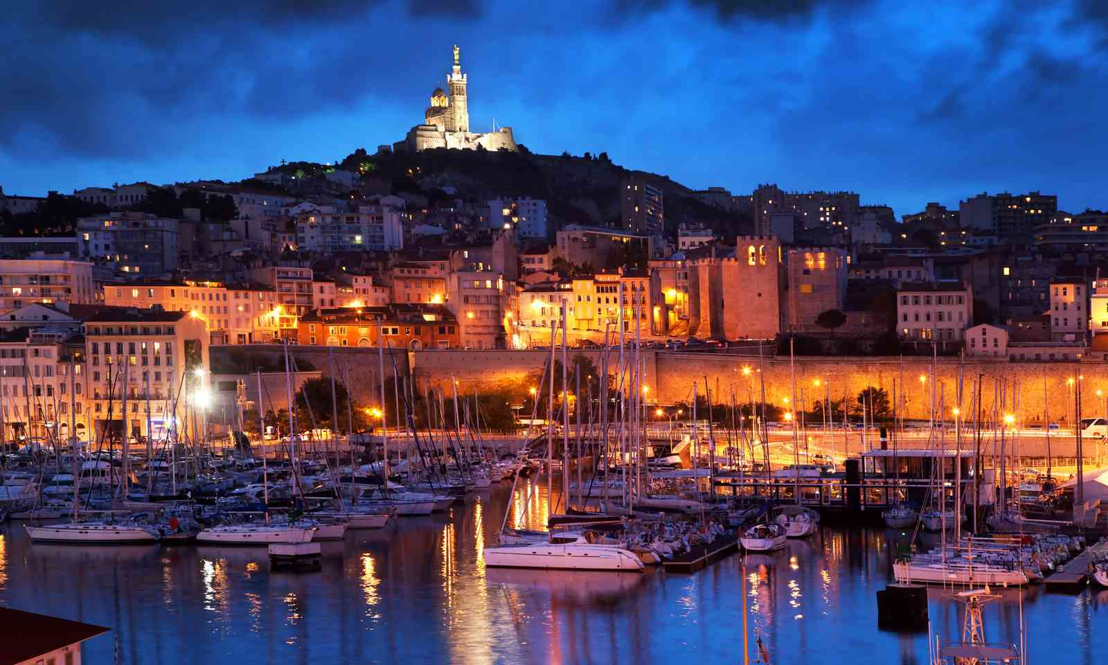 Marseille at night (Dreamstime)
