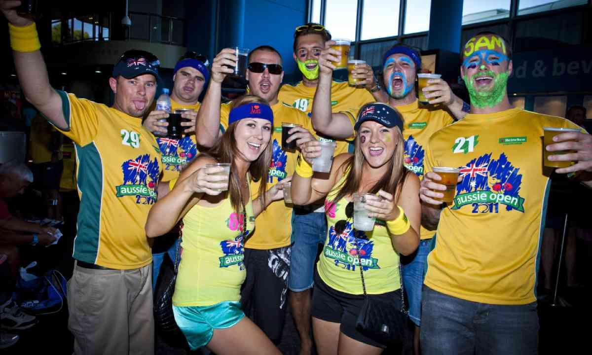 A group of Australian supporters (Shutterstock)