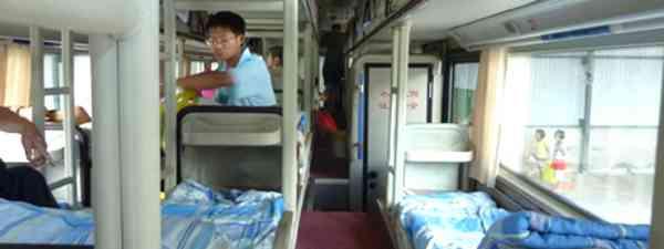 Shiny new sleeper bus (Marie Javins)