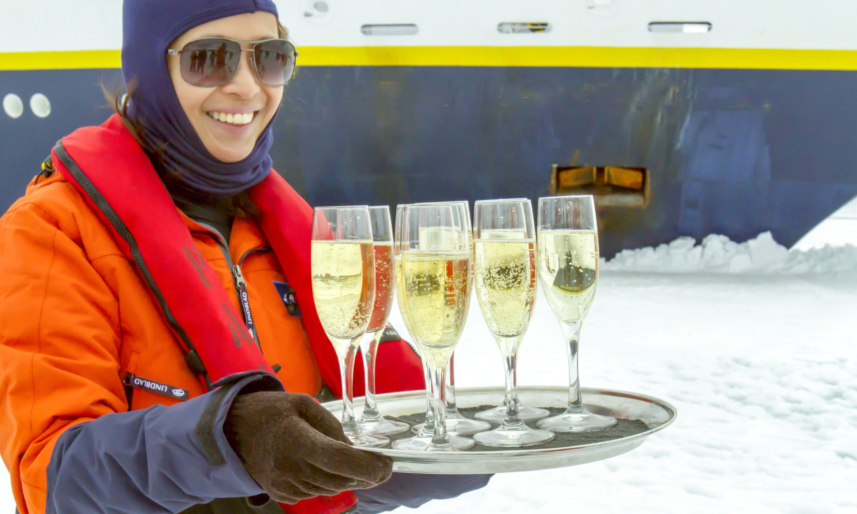 Champagne in Antarctica (Dreamstime)