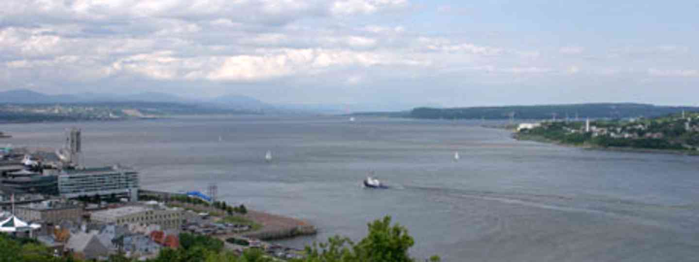 The St Lawrence Rive from Quebec's city walls (Simon Chubb)