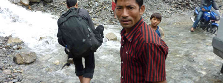Piggy Backing in Nepal (Marie Javins)