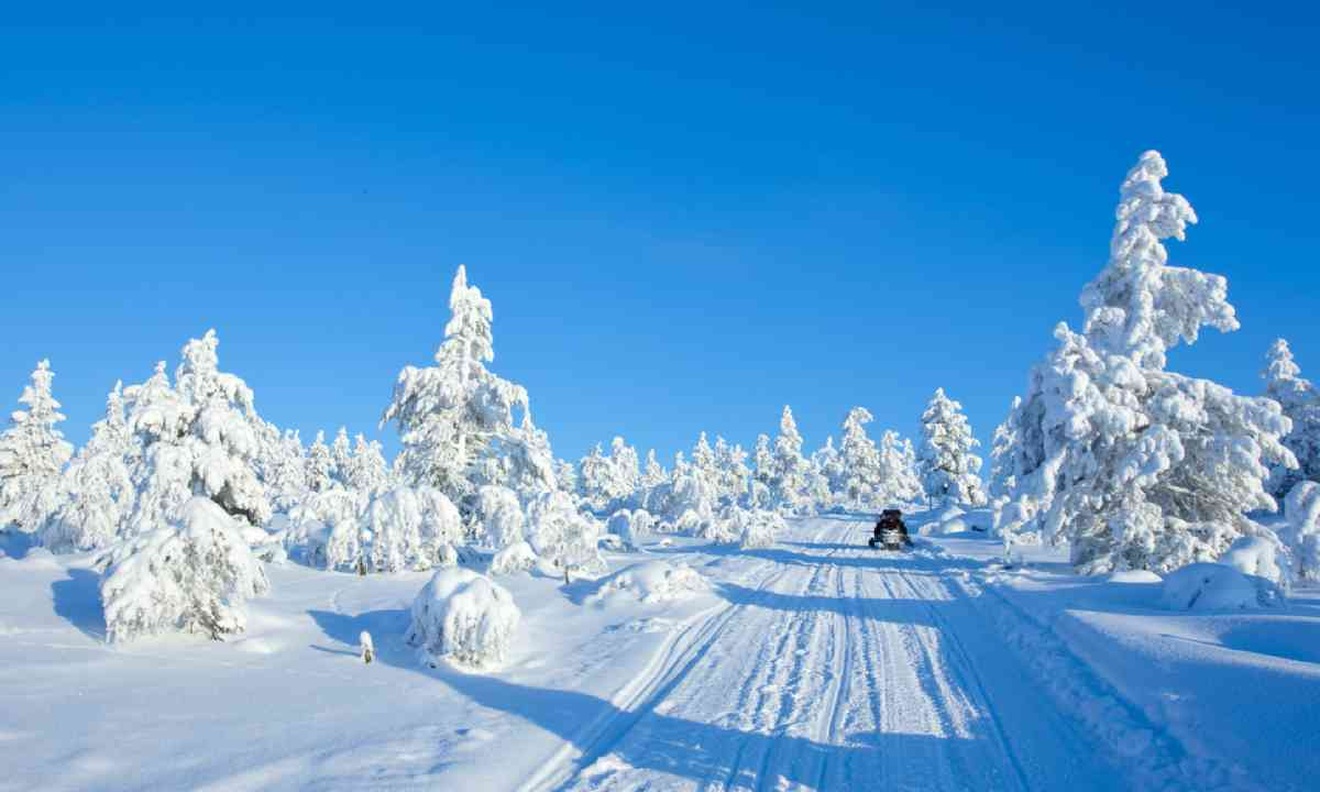 Snowmobile in Finland (Shutterstock)