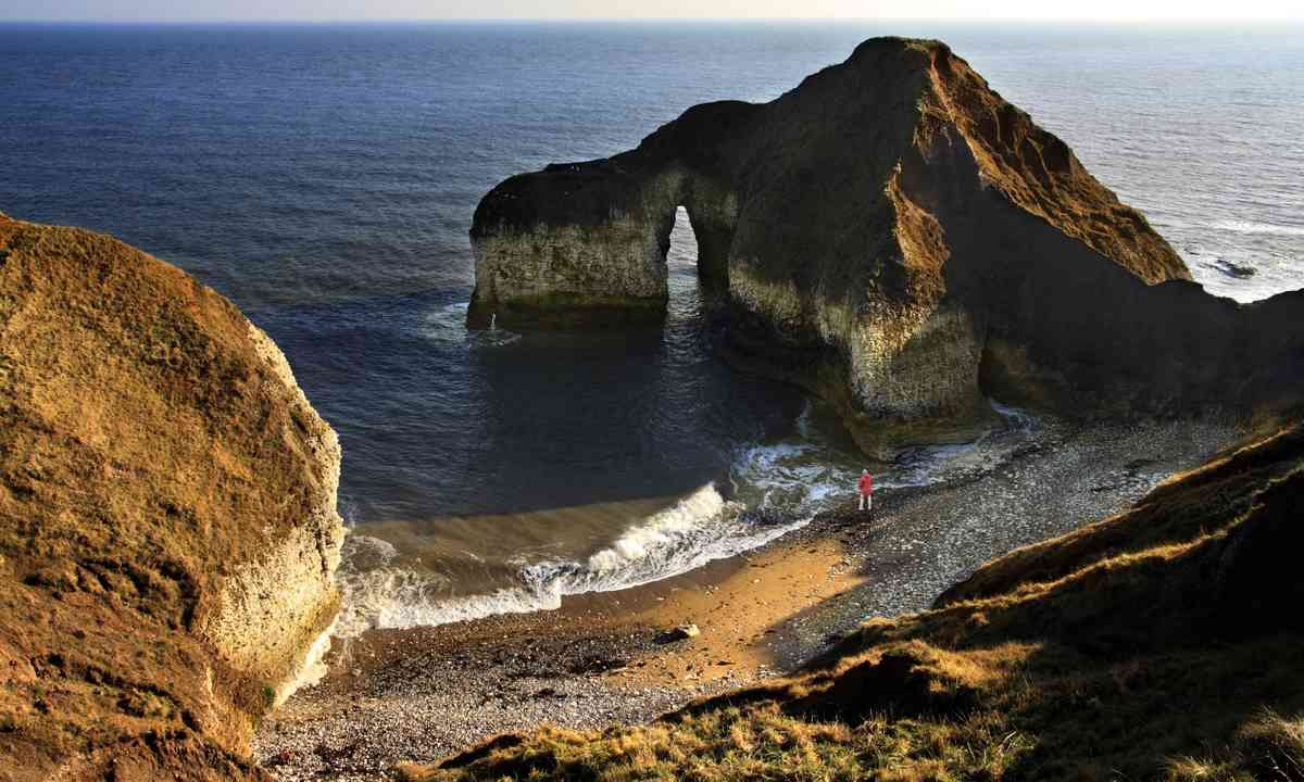 A Natural Arch in the cliffs at Flamborough Head (Dreamstime)