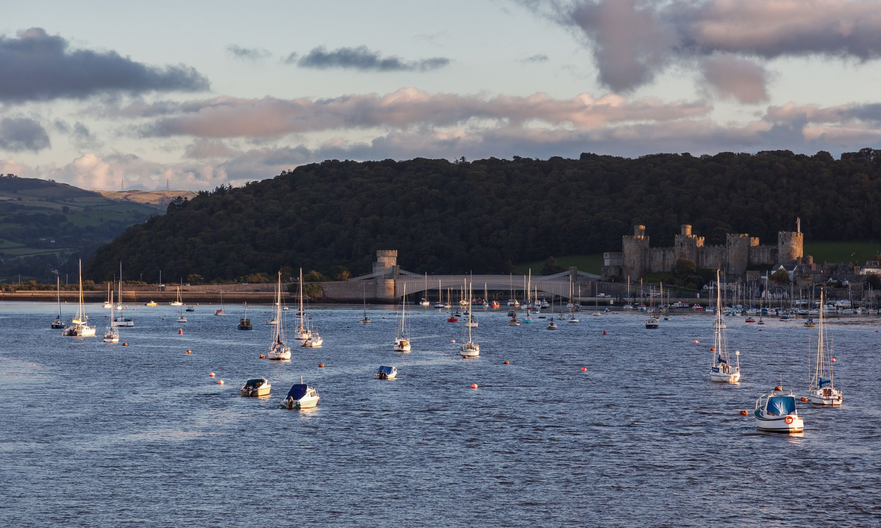 Conwy estuary. Possibly from a rib boat. (Dreamstime)