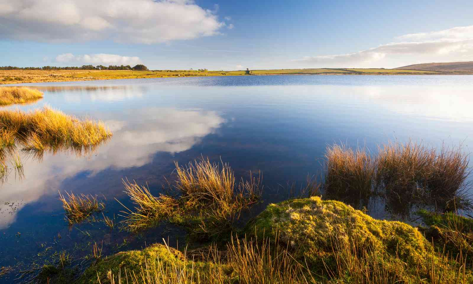 Dozmary Pool. Lady of the Lake not shown. (Dreamstime)