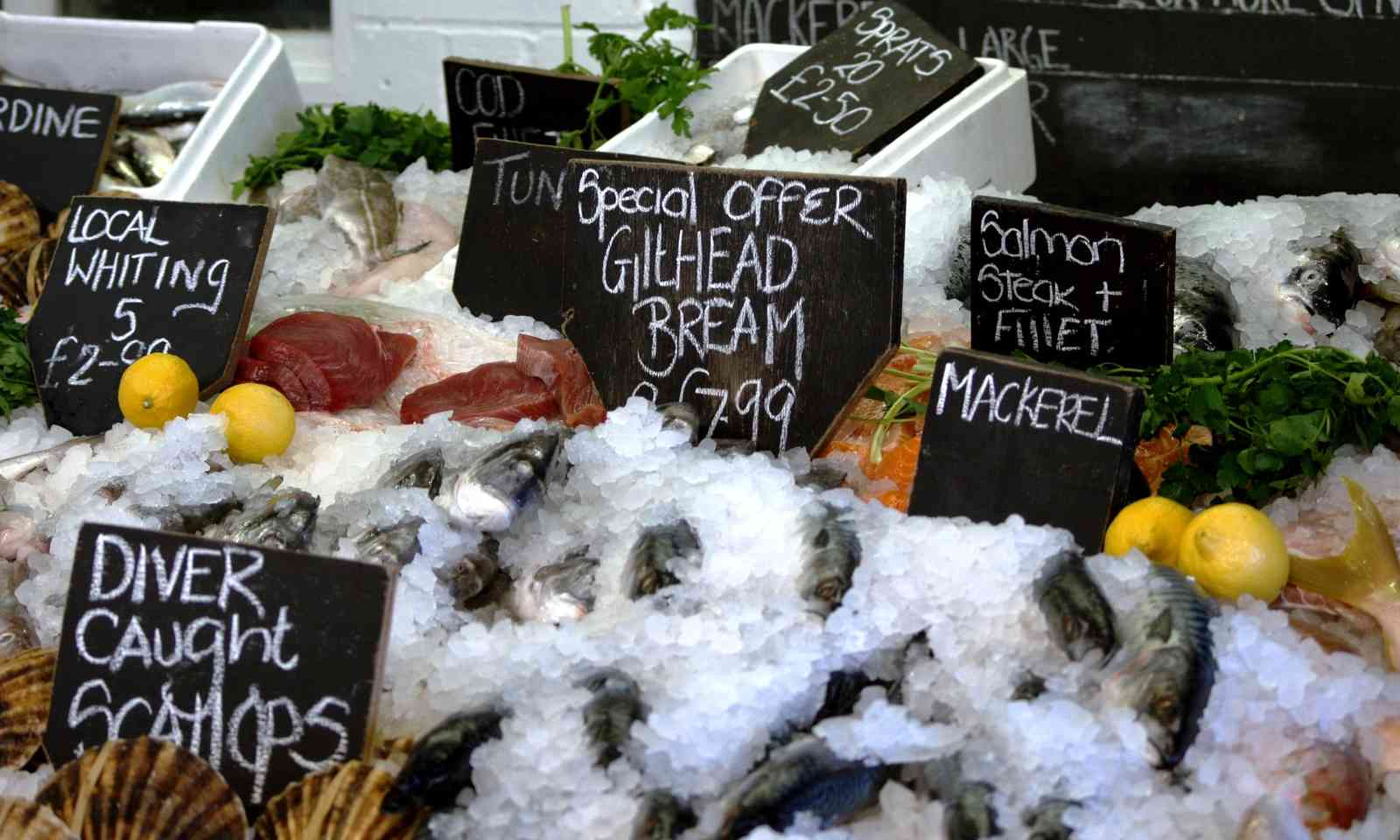 Fresh seafood in Whitstable (Dreamstime)