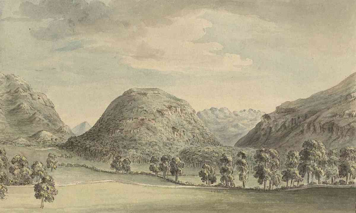 Dinas Emrys, from Pennant's A Tour In Wales, 1778 (National Library of Wales)