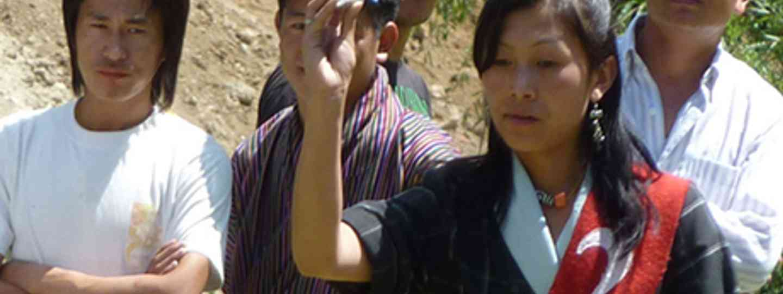 Bhutan Lady's Darts team (Marie Javins)