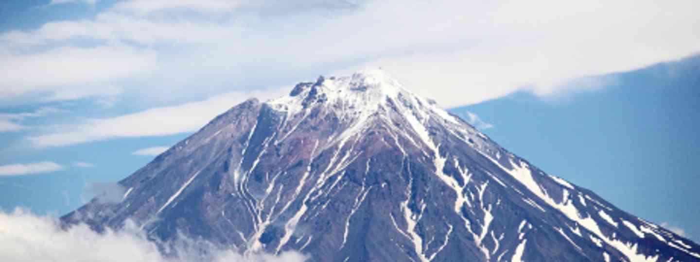 Koryaksky volcano seen from the hotel room in Pertopavlovsk (Einar Frediksen)