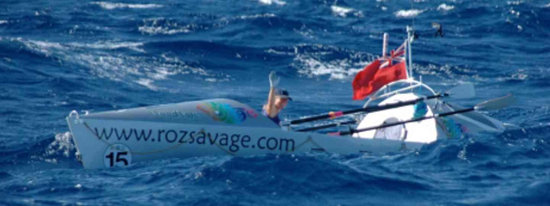 Roz Savage on the ocean (Roz Savage)