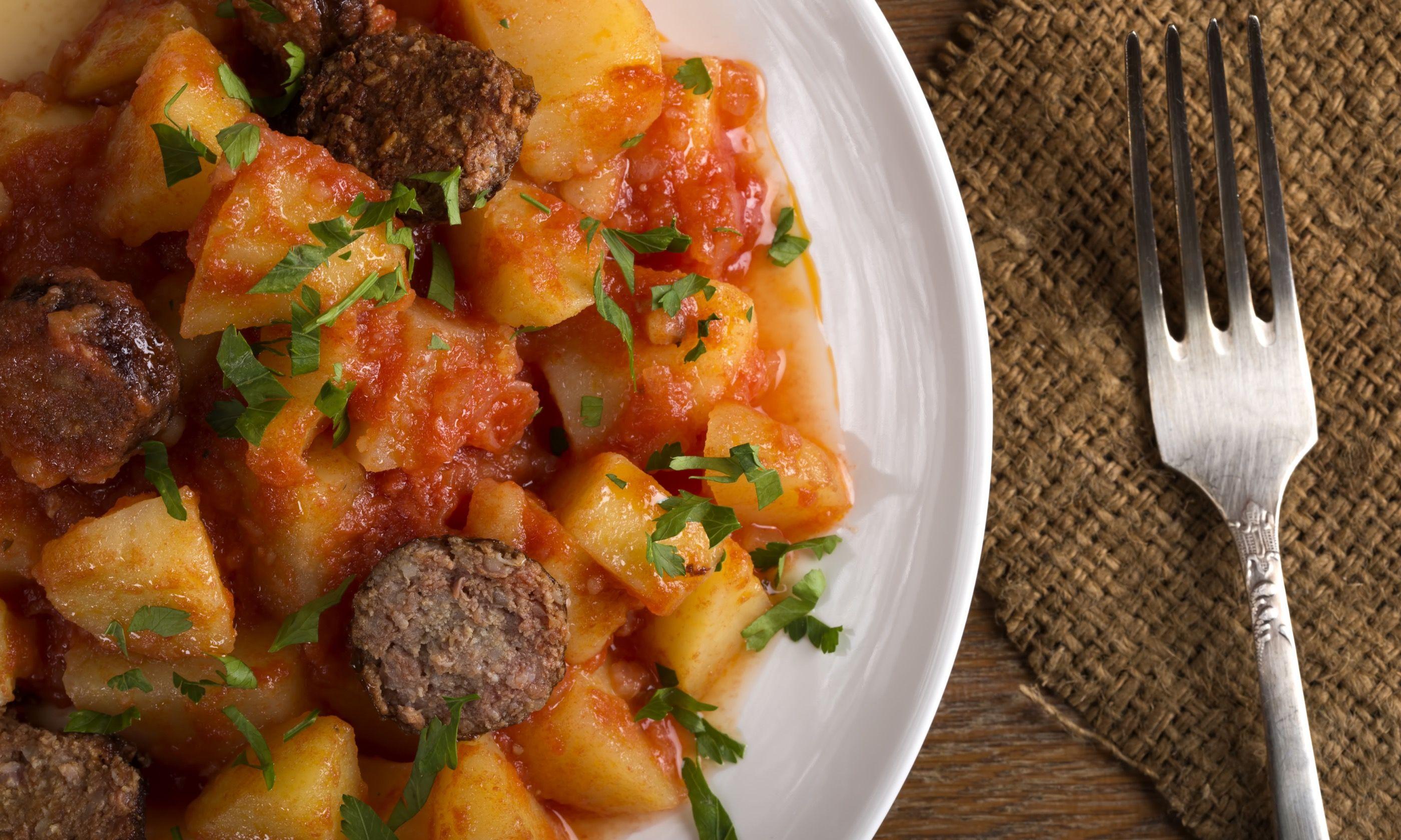 Potatoes and chorizo, Rioja style (Dreamstime)
