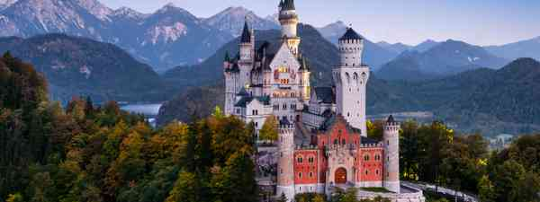 Neuschwanstein Castle in Bavaria, Germany, before sunrise. (Dreamstime)