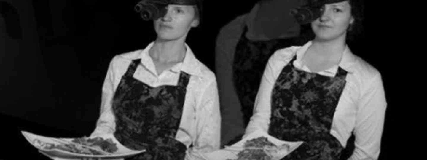 Waitresses need night-vision goggles at the Dark Restaurant in Poland