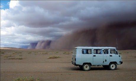 Van in Gobi
