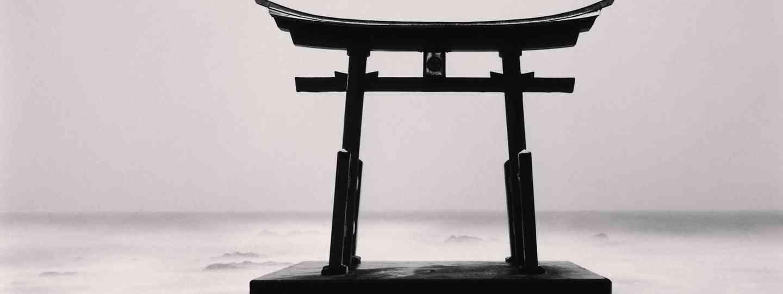 Torii Gate, Study 2, Shosanbetsu, Hokkaido, Japan. 2014 (Michael Kenna)