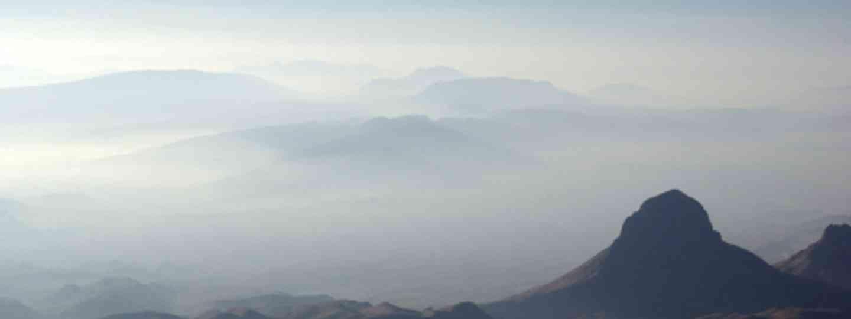 Fog under Elephant Tusk, Big Bend National Park (Adam Baker)