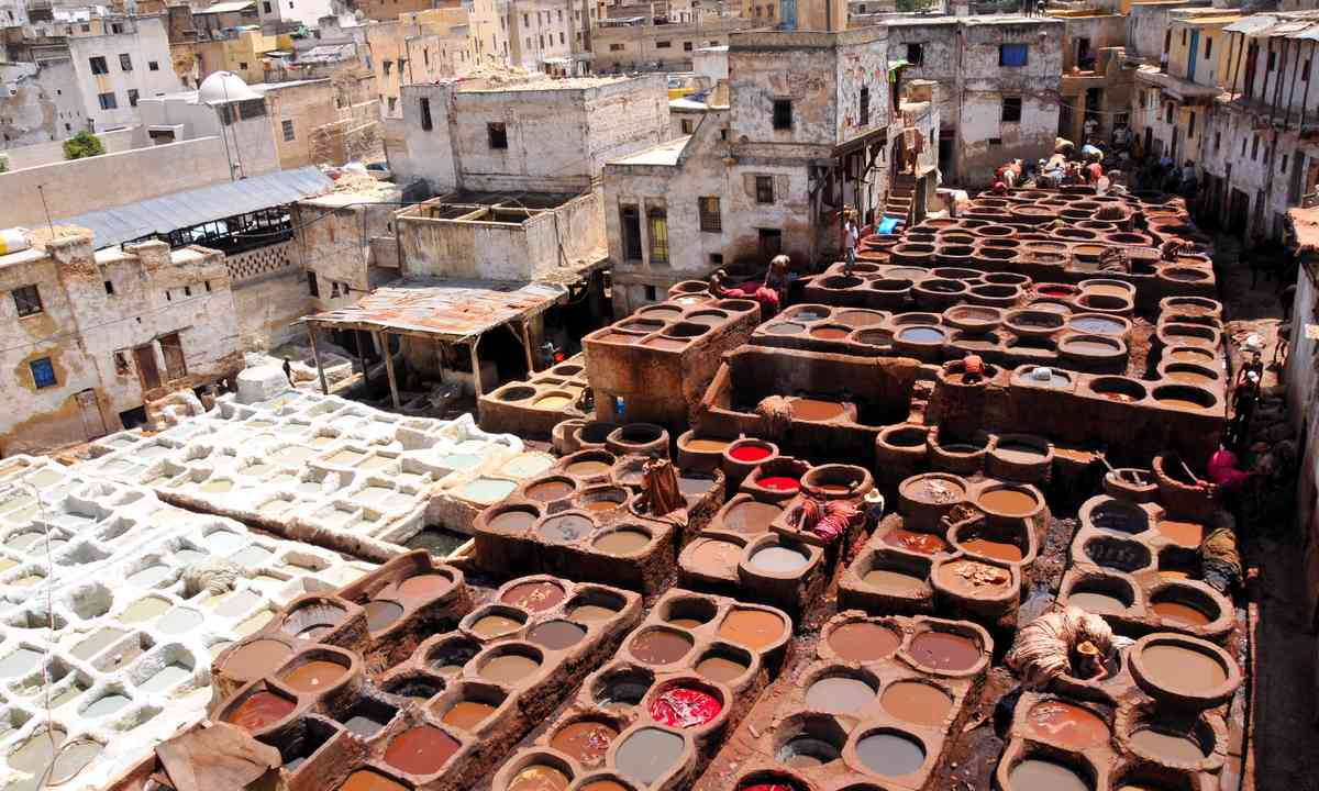Leather tanning in Fez (Dreamstime)
