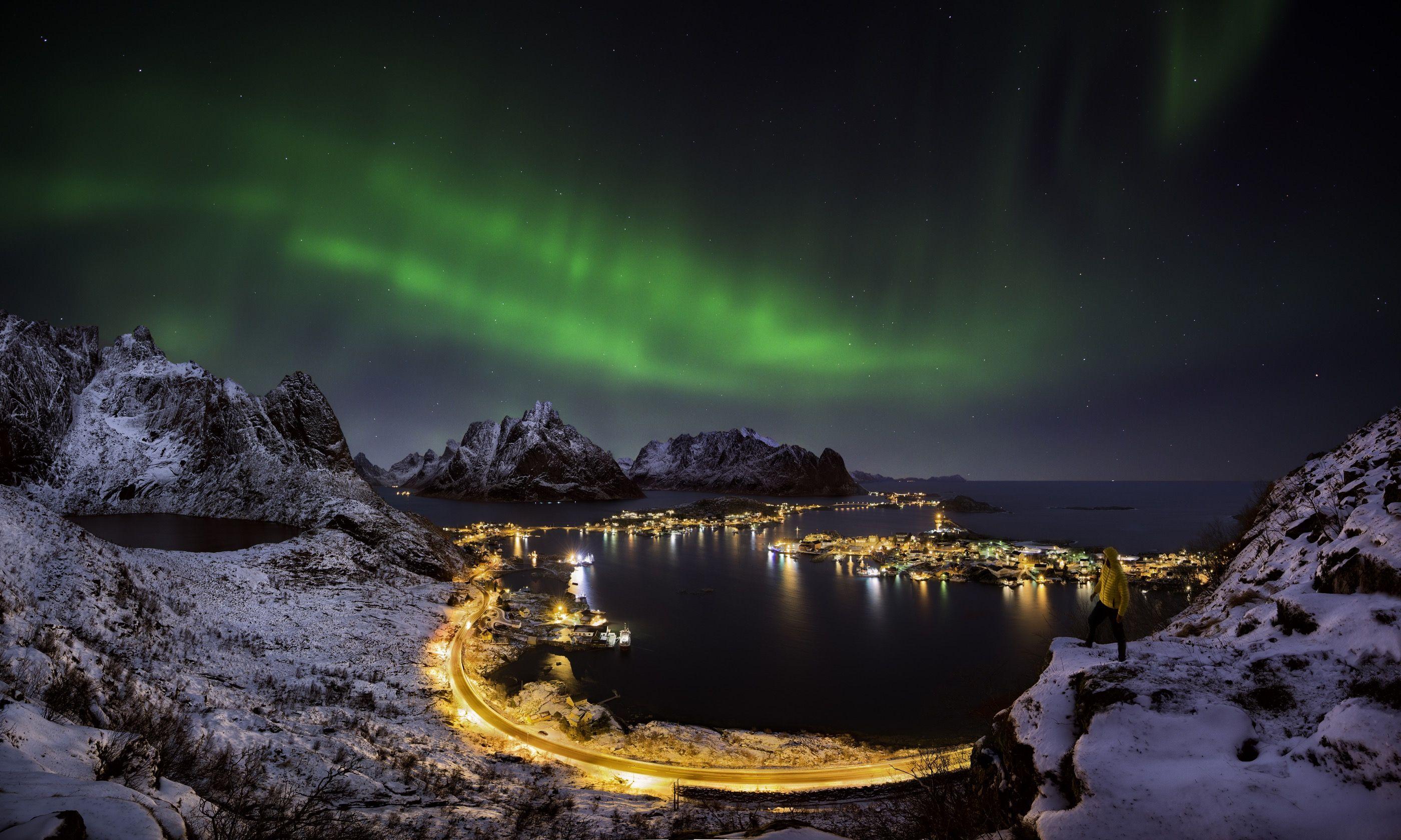 Northern Lights over Reine, Norway (Dreamstime)
