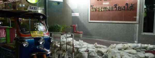 Sand bags in Bangkok (Marie Javins)
