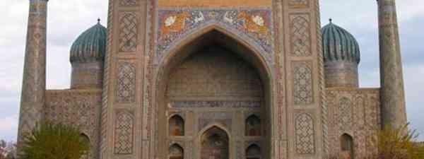 Sher-Dor Madrasah, Samarkand (cercamon)