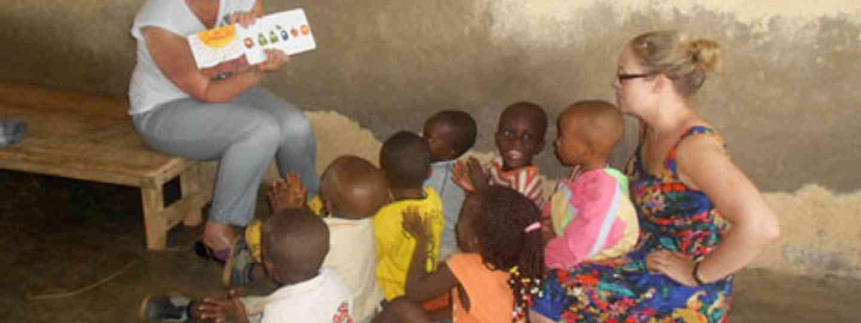 Diane teaching kids in Ghana
