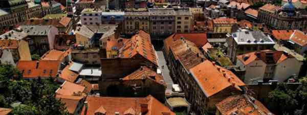 Looking over the city of Zagreb (sobrecroacia.com)