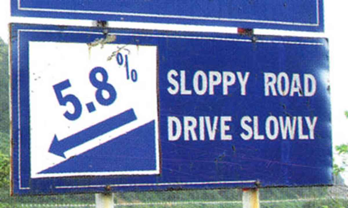 Sloppy roads