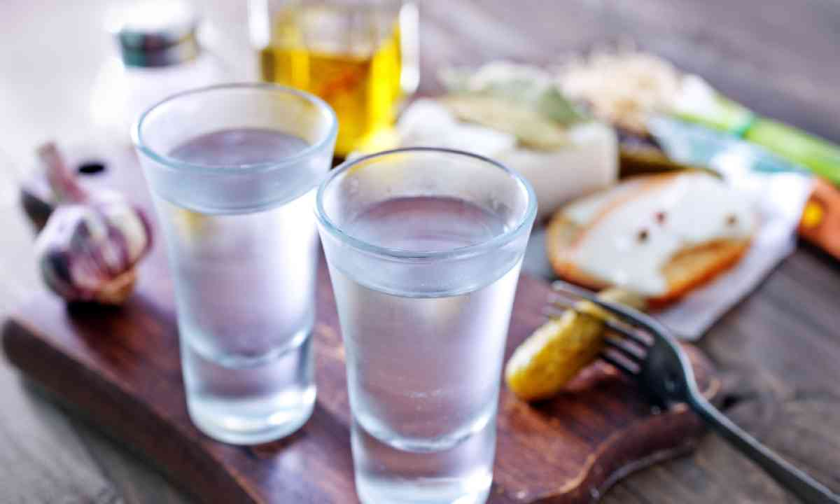 Vodka and lard (Shutterstock)