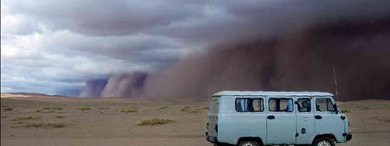 Dust cloud, Gobi desert (Lyn Hughes)