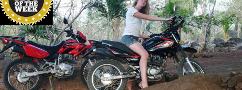 Rachael Bell entering Costa Rica