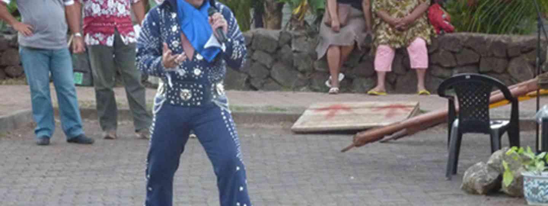 Easter Island's only Elvis impersonator