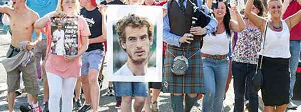 Andy Murray on the streets of Dunblane