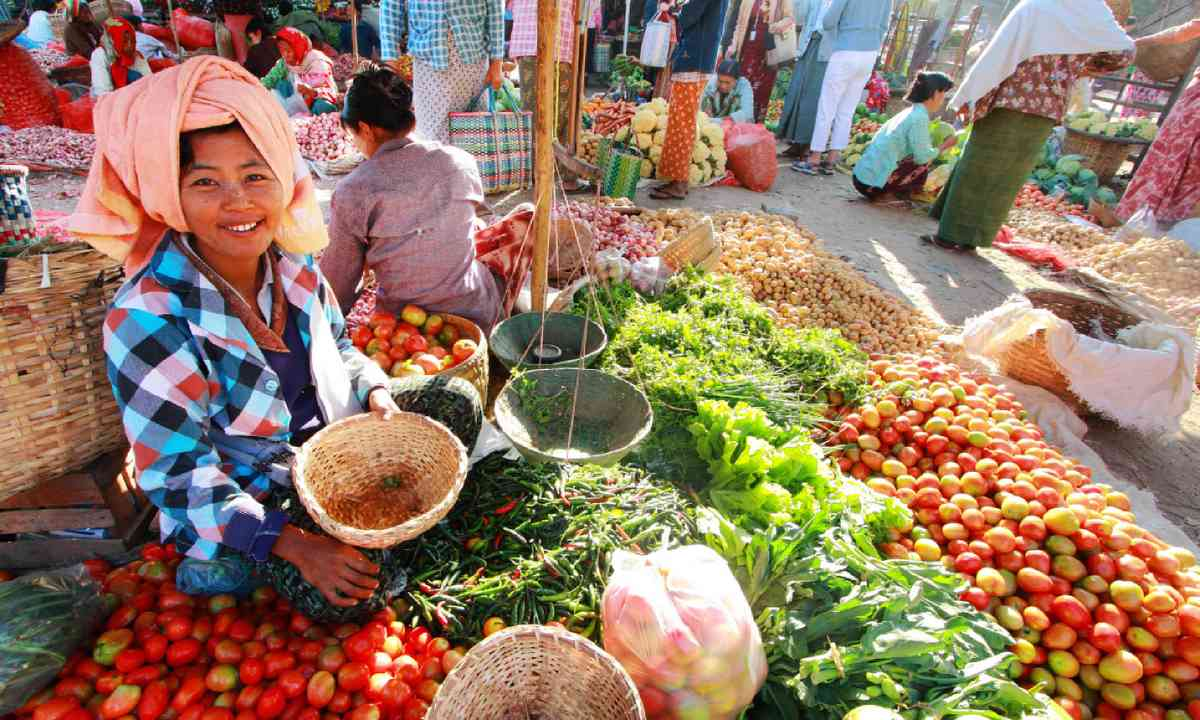 Nyaung-U market, Myanmar (Shutterstock)