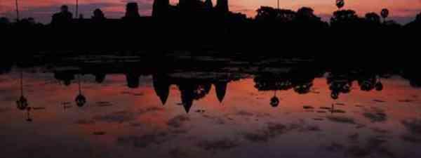 A beautiful sunset at Angkor Wat