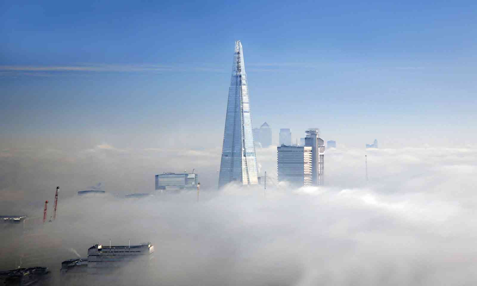 The Shard in London fog (Dreamstime)
