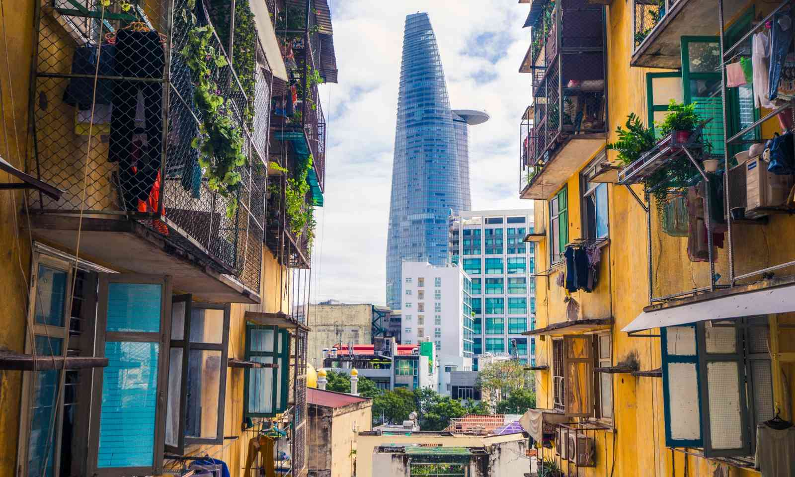 The Bitexco Financial Tower viewed from District 1 (Dreamstime)