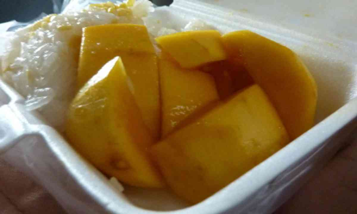 Mango and sticky rice (Bangkok Boutique)