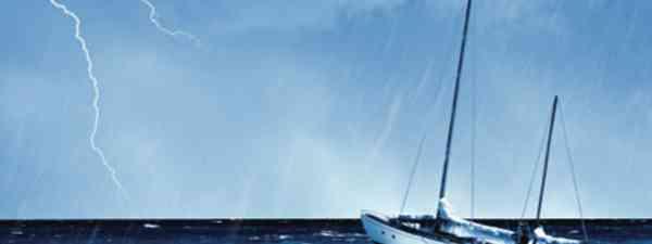 Boat in a storm (Shutterstock)