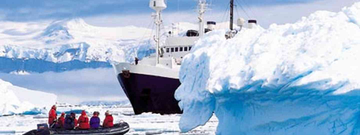 Exploring the ice on a rigid inflatable (Photo: Dreamstime)