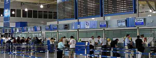 Check-in at Athens International Airport (Wiki Images)