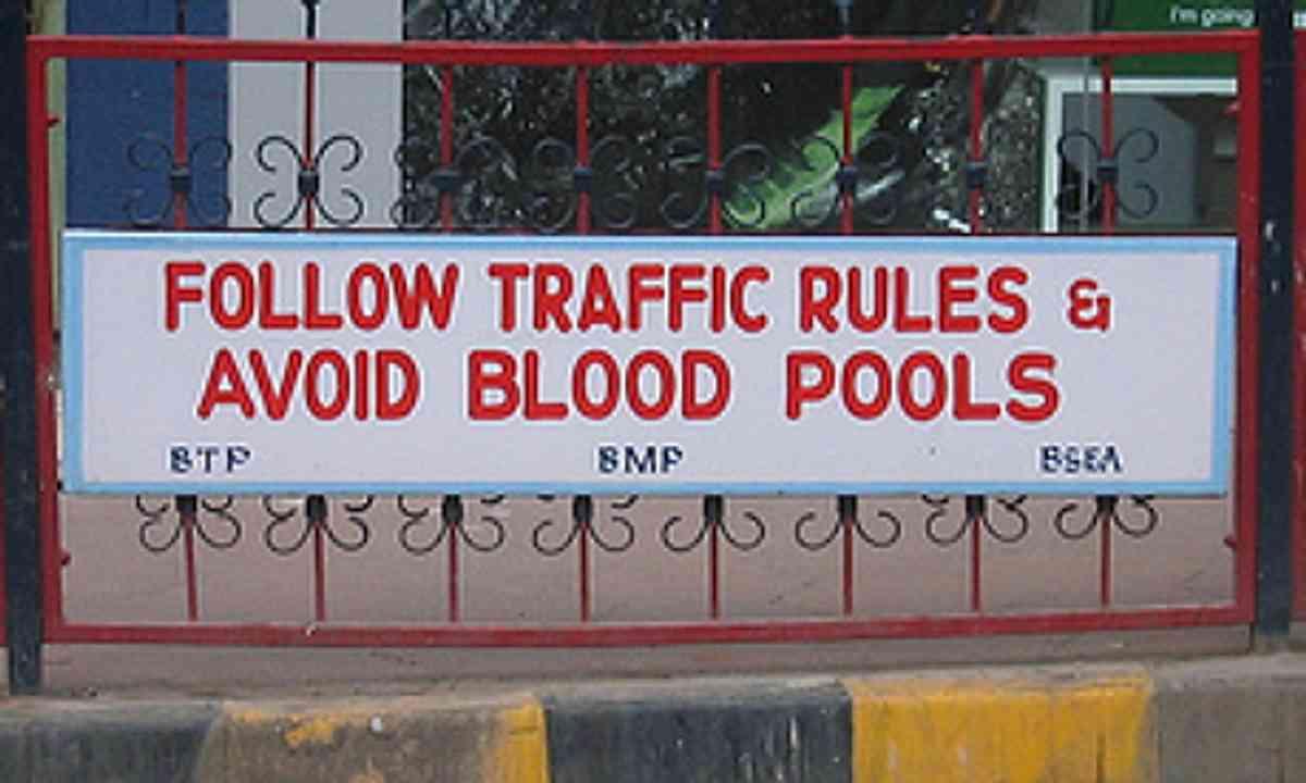 Blood pools
