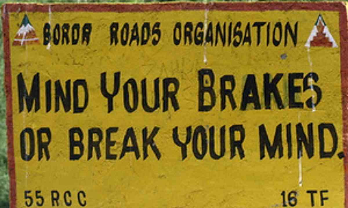 Mind your brakes