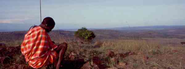 Maasai on a hill (Peter Moore)