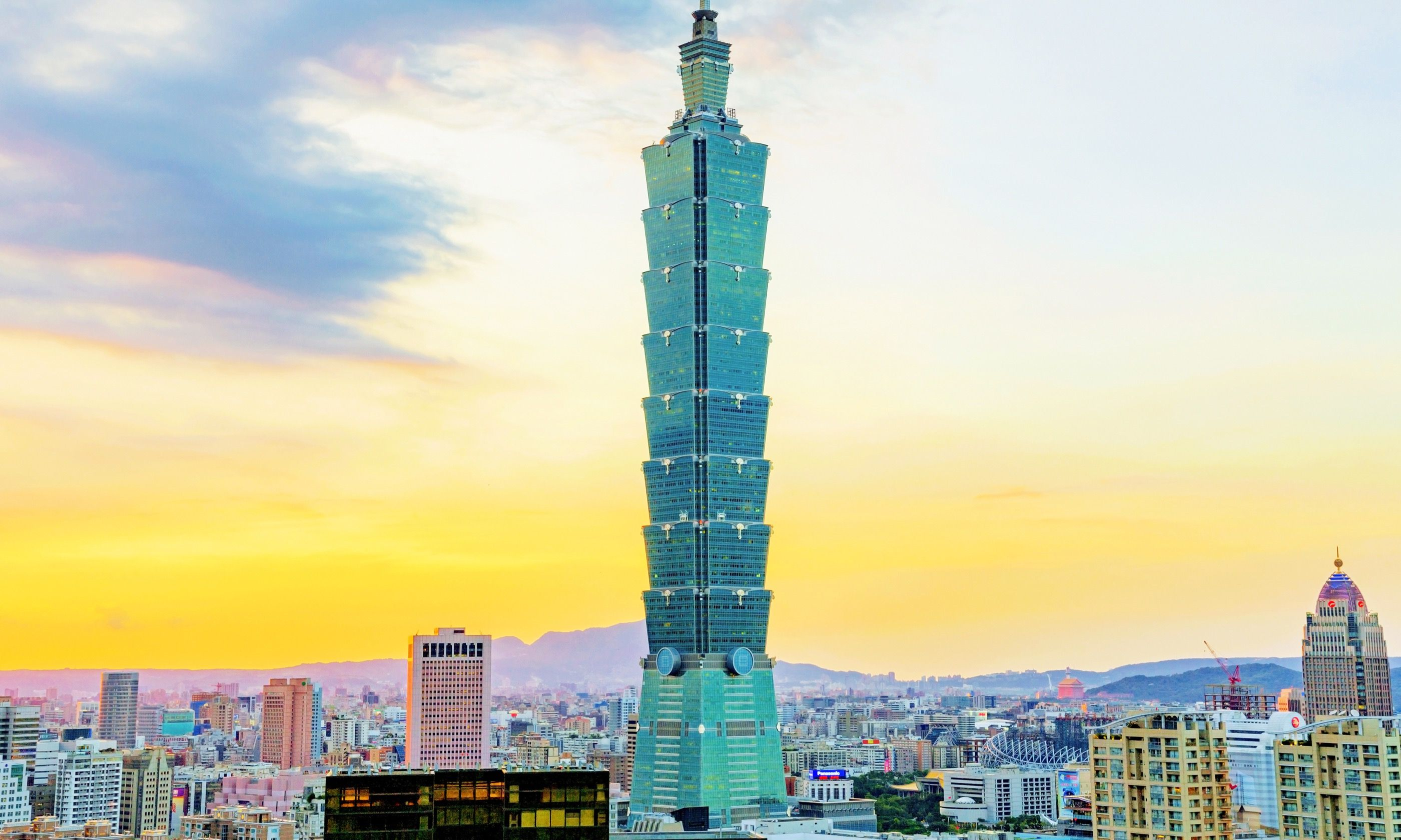 Taipei 101 as seen from Elephant Mountain (Dreamstime)