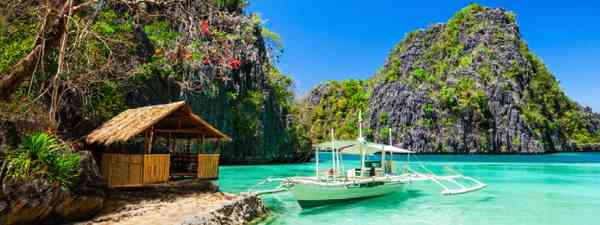 Boat in the sea, Coron, Philippines (Shutterstock)