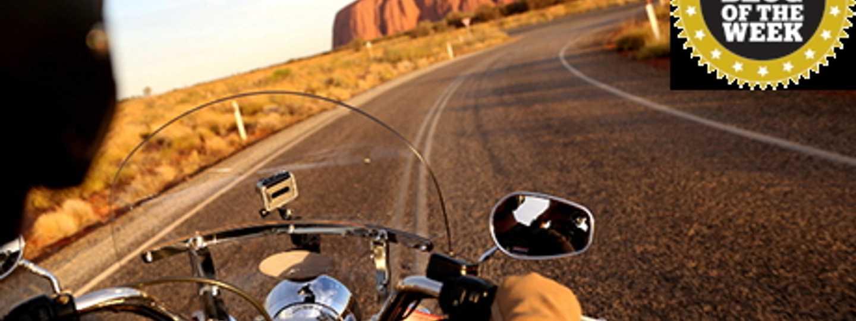 Uluru and a Harley (David Hoffman)